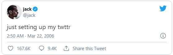 Jack Dorsey's First Tweet